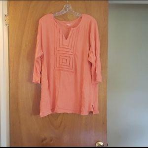 Women's Orange 3/4 Sleeve Blouse